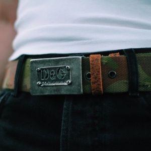 Dolce & Gabbana camo belt